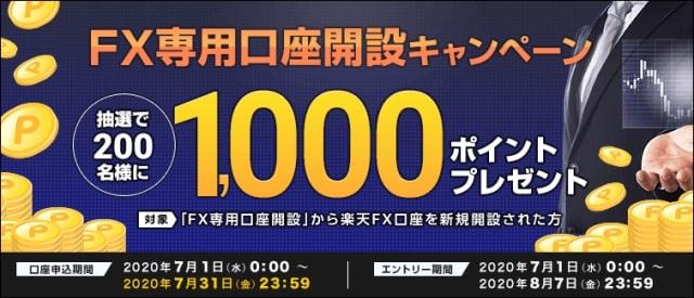 【楽天証券】楽天FXキャンペーン