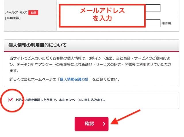 入力事項の確認画面へ|SMBC日興証券キャンペーン応募フォーム