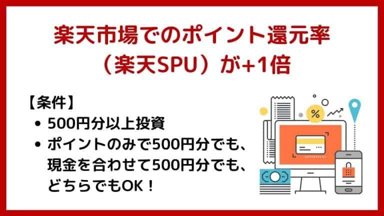 楽天市場でのポイント還元率(楽天SPU)が+1%!