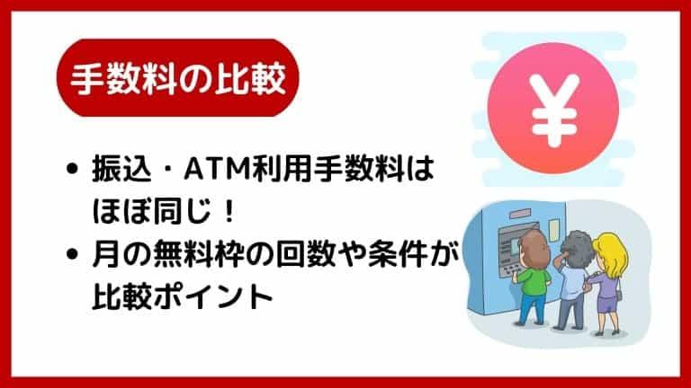 【手数料の比較】楽天銀行vsイオン銀行