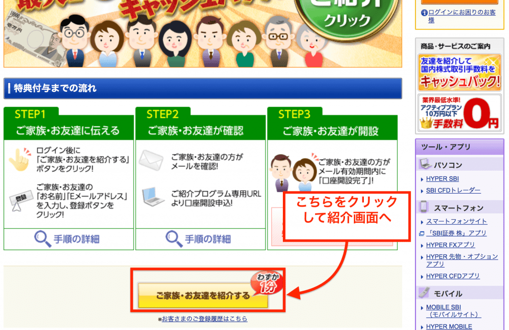 SBI証券キャンペーン「紹介プログラム」