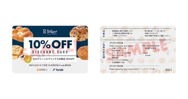 R Bakerファンドの優待特典「10%割引券」
