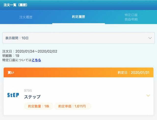 ネオモバ新規購入銘柄(端株優待)2020年1月31日