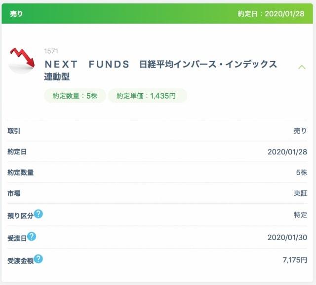 日経インバースETFの取引(37週目)