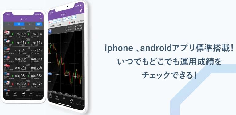 スマホアプリ(iPhone・android)も対応|トライオートFX自動売買
