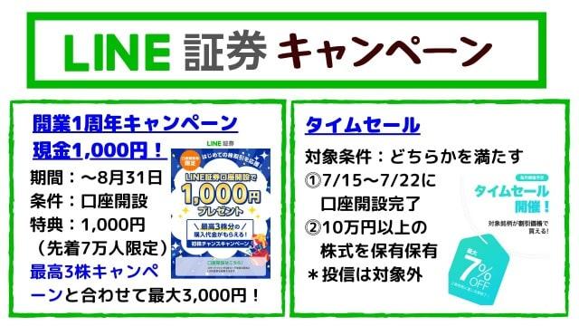LINE証券キャンペーン【タイムセール開催】
