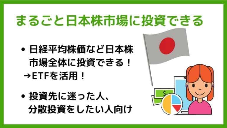 日経平均に連動するETFなど「丸ごと」日本株市場に投資できる【ワンタップバイ】