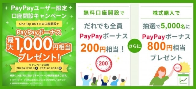 ワンタップバイキャンペーンコード入力(paypay2000)