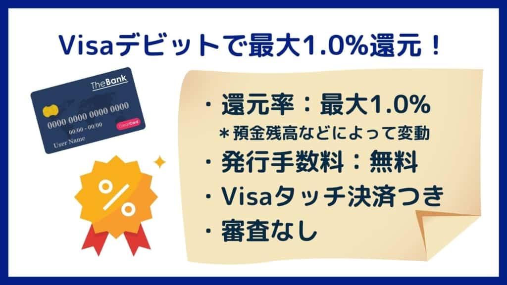 Visaデビットの還元率が最大1.0%!