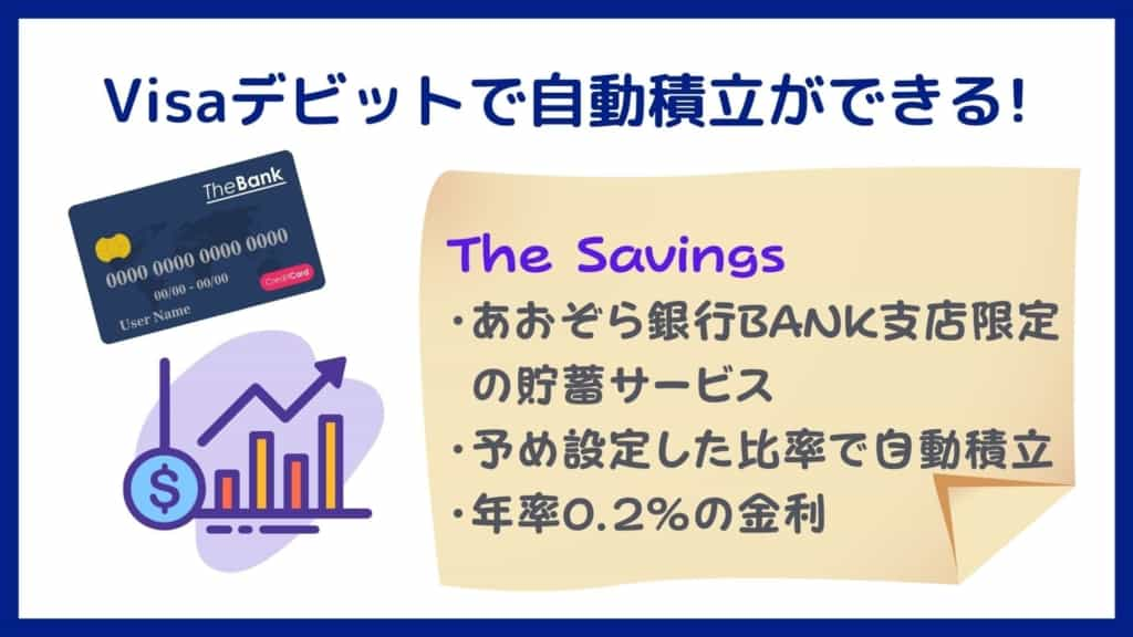 The Savings:Visaデビットで自動積立ができる!