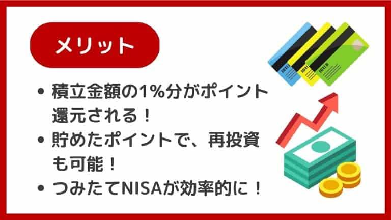 【楽天証券】楽天カード投信積立(クレジット決済)のメリット