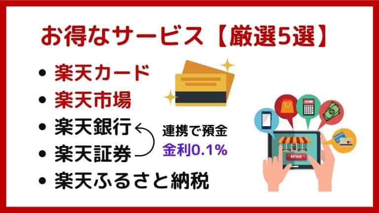 楽天グループのお得な必須サービス【厳選5選】