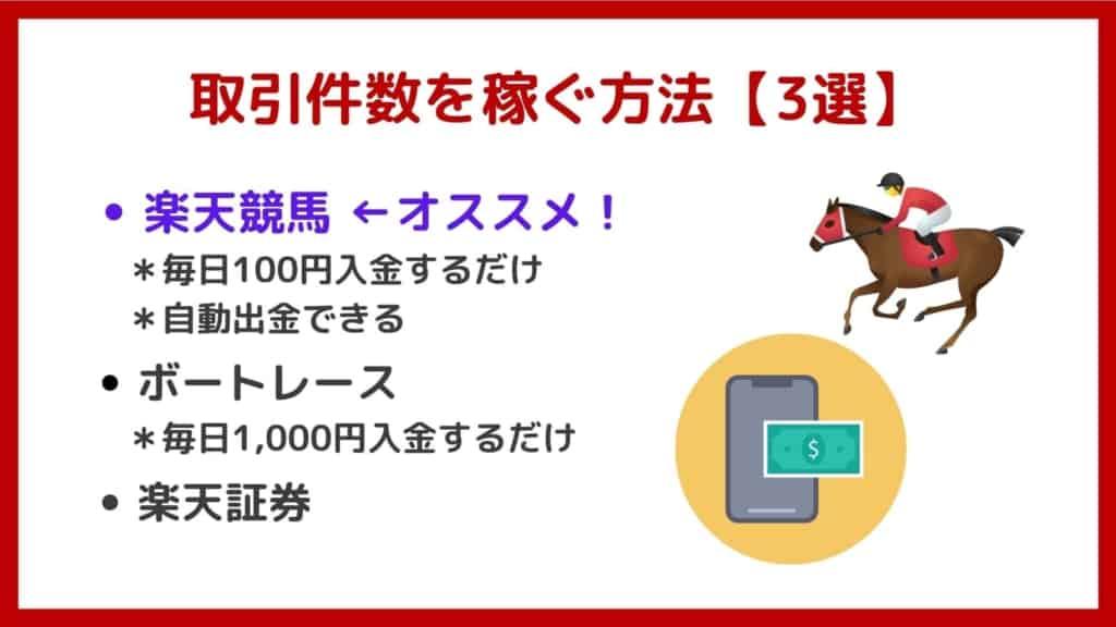 楽天銀行ハッピープログラムで取引件数を稼ぐ方法【厳選3選】