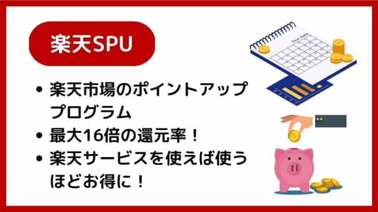 楽天スーパーポイントアッププログラム(楽天SPU)の概要