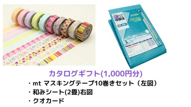 萩原工業の株主優待(1,000円分のカタログギフト)