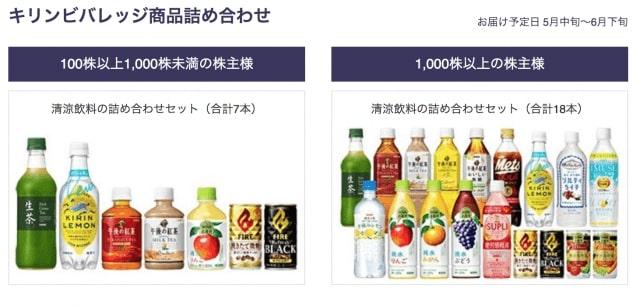 未成年の方用のノンアルコール|キリンホールディングスの株主優待