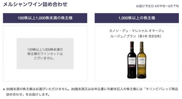 1,000株以上の方限定ワイン